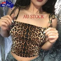 Sexy Fashion Women's Casual Tank Tops Leopard Print Vest Halter Blouse Camisole