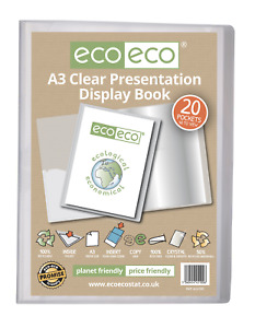 eco-eco A3 Size 50% Recycled 20 Pocket Presentation Display Book