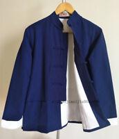 100% Cotton Traditional Kung Fu Martial arts Coat Wing chun Tai Chi Jacket Mens