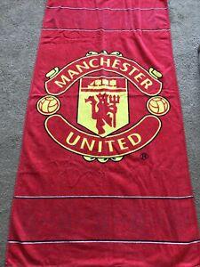 manchester united bath towel