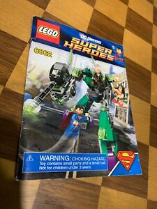 Lego 6862 Instructions ONLY Superman vs Power Armour Lex Booklet
