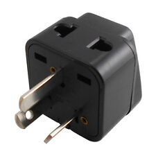 UK EU US to AU Australia Converter Travel AC Power Adaptor Plug Black Universal