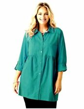 Maglie e camicie da donna maniche a 3/4 in cotone verde
