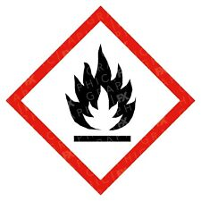 CLP Flammable Hazard Warning Labels Stickers COSHH PPE
