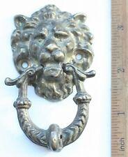 Vintage Style Solid Brass Lions Head Door Knocker
