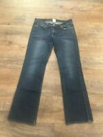 Lucky Brand Dungarees Midrise Flare Dark Blue Jeans Size 8 / 29