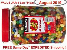 ORIGINAL JELLY BELLY BEANS 49 GOURMET FLAVORS Kirkland 64 oz 4 lb <> AUGUST 2019