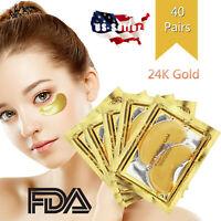 80pc Gold Crystal Collagen Eye Mask Patch Pad Wrinkle Anti Aging Dark Circle Gel
