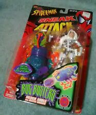 1998 Toy Biz Sneak Attack Silver Sable Spiderman Bug Busters Series