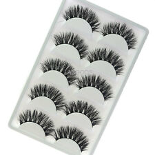 5 Pairs 3D Mink False Eyelashes LASGOOS Hot Sale Wispy Cross Fake Eye Lashes K01