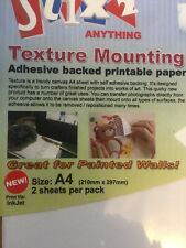 Stix2 Texture Mounting Sheets A4 - Adhesive repositionable printing Sheet