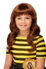 Santoro Bee Loved Wig Brown Childrens Brown Wavy Wig Fancy Dress Costume