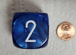"Koplow's Backgammon Doubling Cube *Navy Blue* - 30mm (1 1/8"") Cool, Blue Colors"