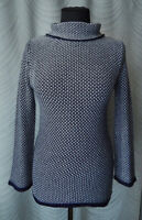🔻Boden Wool Cotton Jumper Blue  Size UK 8 Polo Neck