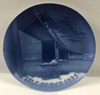 Bing & Grondahl B&G-Royal Copenhagen Christmas Plate 1935 Lillebelt Bridge-NEW!