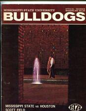 1972 Mississippi State Bulldogs vs Houston Cougars 10/28/1972 Football Program