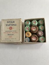 Vtg Lot Of 11 Star Brand Tatting Crochet Thread Box New Balls + Partial
