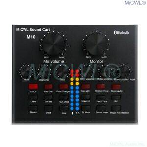 MiCWL M10 Live Sound Audio Card Live for Condenser Dynamic Microphone Laptop PC