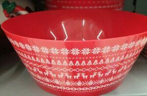 Festive large bowl hard plastic ideal for side snacks - very popular NEW