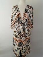 L - Large LuLaRoe Shirley Kimono Beautiful Peach Black Brown Aztec Unicorn ! 205
