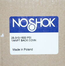 NOSHOK PRESSURE GAUGE 1/4IN. NPT *NEW IN BOX*