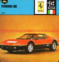 FERRARI BB 1973 : Fiche Auto Collection
