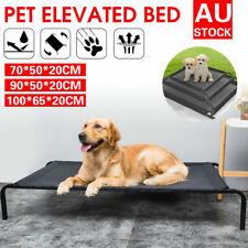 Heavy Duty Pet Dog Cat Bed Trampoline Hammock Canvas Cover Indoor/Outdoor M L XL