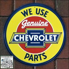 Vintage Replica Tin Metal Sign Round Chevrolet Genuine Part Old Chevy Vette 1072