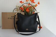 NWT Coach C6152 Pebble Leather Pennie Shoulder Bag Crossbody Black $450