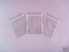"5000 Clear Plastic Ziplock Grip Seal Poly Zipper Bags 1.5"" x 2.5""_40 x 65mm"