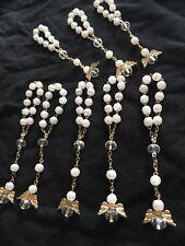 Baptism Favors Mini Rosary Angel White Gold Crystal Para Bautizo Comunión 12
