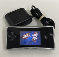 Nintendo Gameboy Micro Console Silver w/ Charger Excellent Condition US Seller