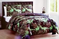 New Lil Jax 2 Piece Comforter & Sham Set Camo Splash Grunge Dinosaur Twin