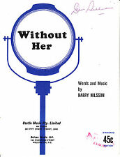 Without Her-1968-Harry Nilsson-4 Page-Sheet Music