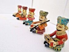 HANDMADE CARVED HAND PAINTED WOODEN SHOWPIECE (BABLA SET)  5 Pcs SET   01
