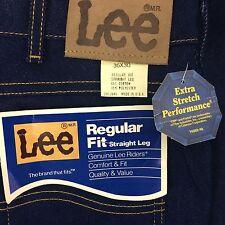 NWT Vtg MENS Lee Riders Jeans Comfort Stretch Regular Fit Straight Leg Tag 36X30