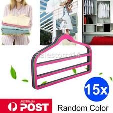 15x Velvet Hangers Clothes Hanger Trouser Pant Rack T-Shirt Coat Organizer OZ