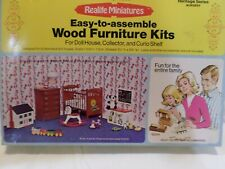 Vintage Dollhouse Furniture Kit Realife Miniatures Nursery Set 1:12