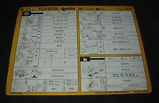 Inspektionsblatt Toyota Corolla AE 80 / AE 82 Werkstatt Service Blatt 05/1983!