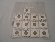 "Coins:USA: 13 Liberty Head ""V"" Nickel Coin Collection: Average/Good/Very Good"