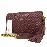 Sale! TORY BURCH NEW Quilted Leather Crossbody Chain Wallet Bag 11003bkac