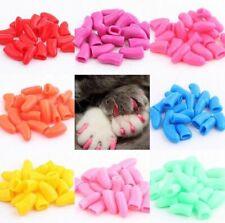Cat Nail Caps 20Pcs Pet Nails Cover Soft Claw Adhesive Paws Dog Kitten Protector