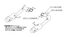 KAKIMOTO EXHAUST HYPER GT BOX REV. FOR HONDA ACCORD WAGON GF CH9 CL2 H41340