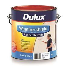 Dulux WeatherShield Render Refresh Exterior Paint Crack Bridging Low Sheen 4l