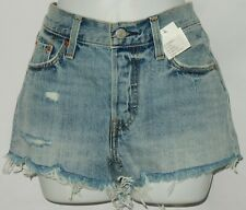 NWT Levi's 501 Jean Women's Frayed Shorts Sz 25 Distress Button Front Alluring #