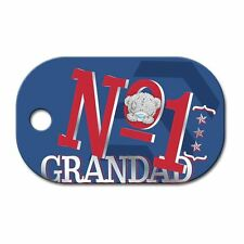 Me to You Dog Tag No 1 Grandad Keyring Fathers Day Gift - Tatty Teddy Bear