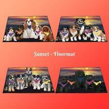 Family Sunset Dog Cat Floormat, Pet Photo lovers gift doormat welcome mat