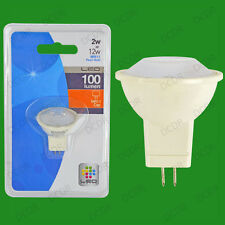 1x 2W MR11 LED Lamp, Long Life Light Bulb, Ultra Low Energy, Instant On, Pearl