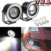 2.5'' Car SUV White 6000K LED Angel Eye Halo Ring Projector Lens Lamp Fog Light