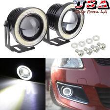 2.5'' Car SUV White 6000K LED Angel Eye Halo Ring Projector Lens Lamp Fog Light